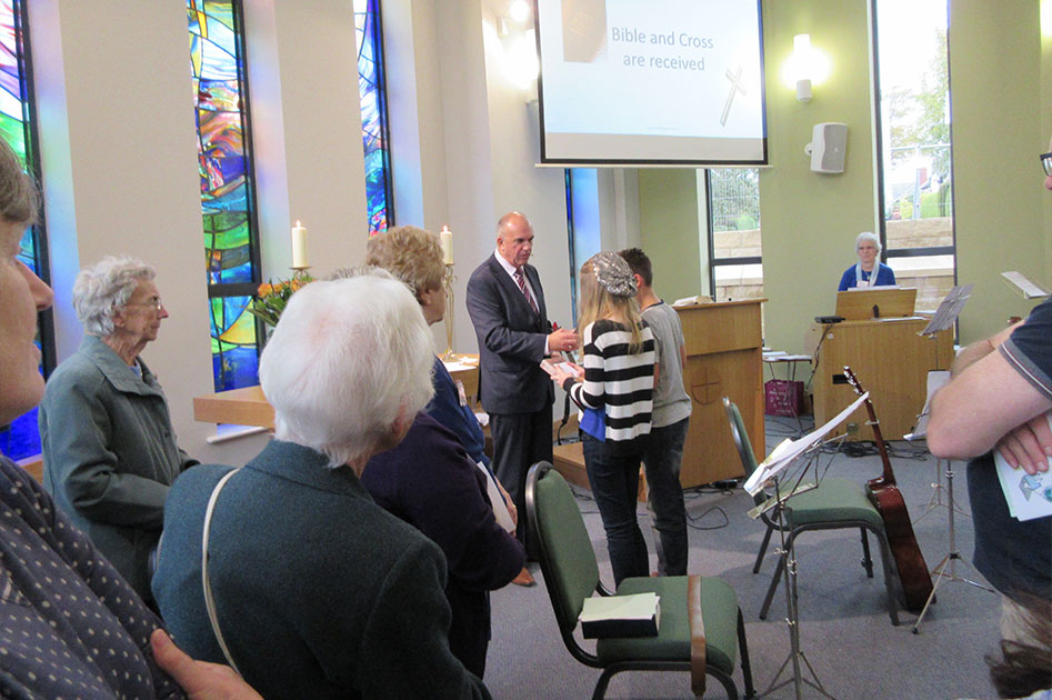 The First Service At The Triangle Community Church